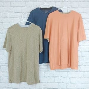 Vanheussen | Bundle of 3 Blue/Orange/Neutral Shirt
